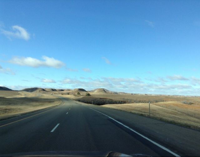 A Month Inside the Oil Boom: the North Dakota highway leading into the Badlands.