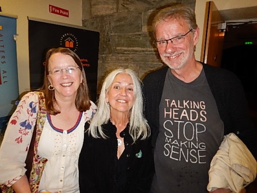 Annie and Ted Deppe with Paula Meehan at center.