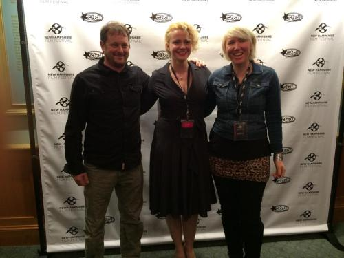 At the New Hampshire Film Festival: Jayson Lobozzo, producer & DP; Erika Wilson,  actress; and Erin Enberg, writer & director