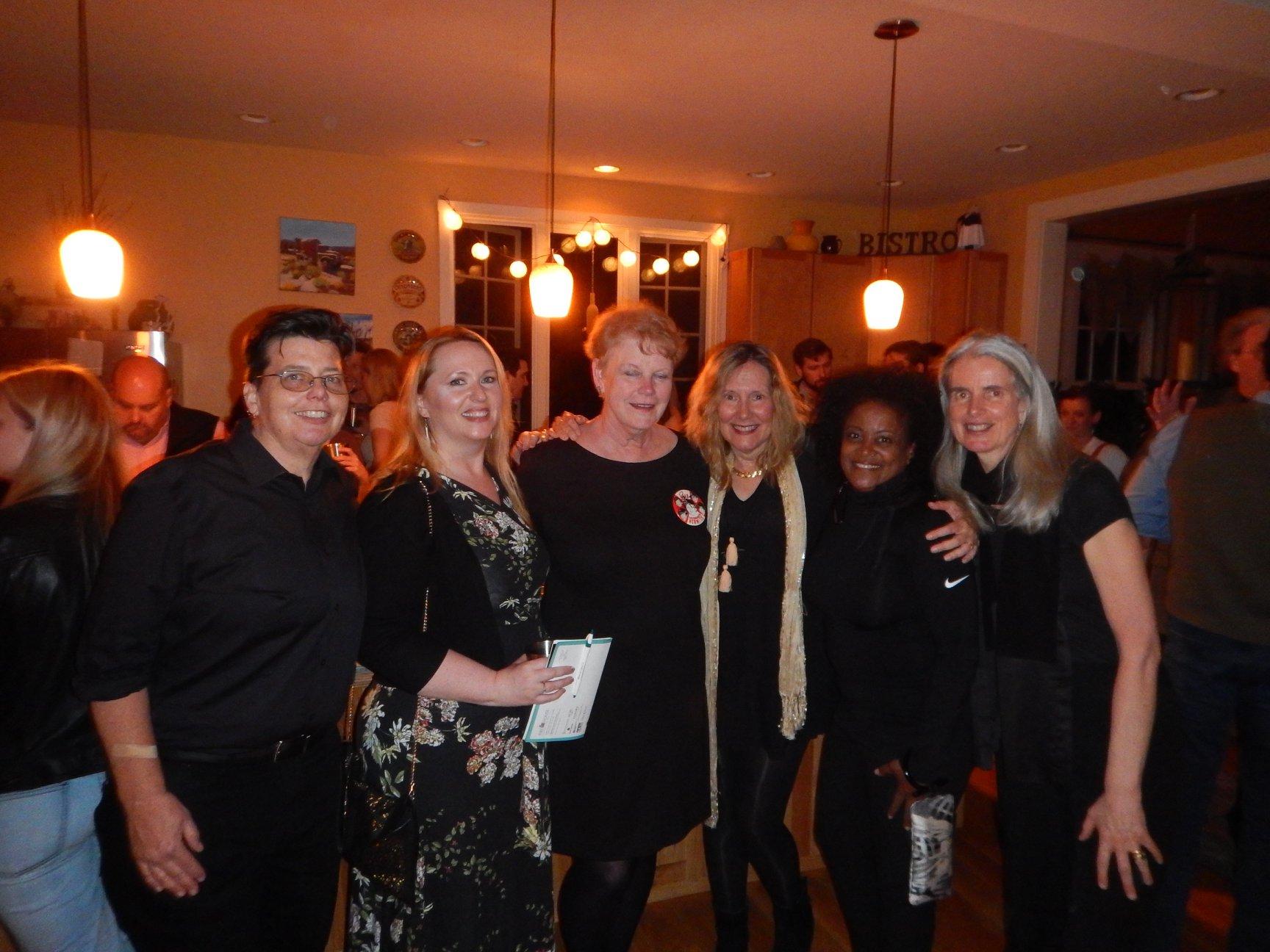 "ebb383ec Stonecoast ""Idol Talkers"" (from left): Lee J. Kahrs, Michelle Soucy, Tamra  Wilson, Elizabeth Searle, Darlene Taylor, and Suzanne Strempek Shea"